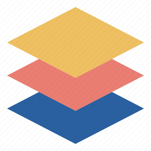 element, layer, piling, square, staging icon