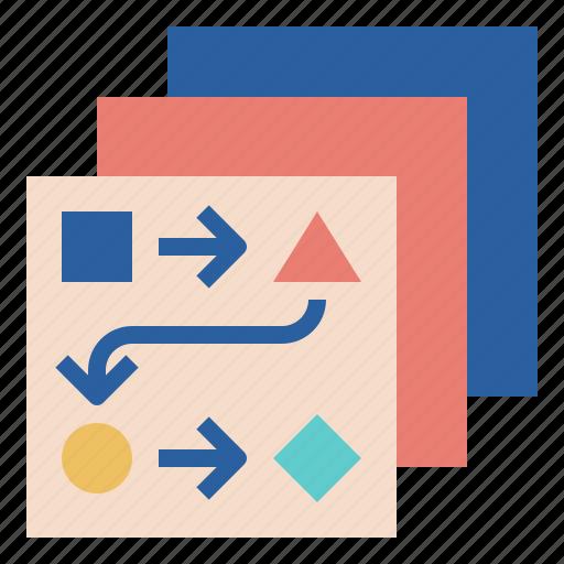 chart, flow, plan, transform icon