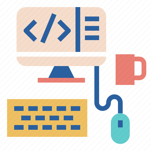 coding, content, desktop, programming, web, workspace icon