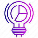 bulb, idea, imagination, innovation, light, setting icon