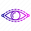 eye, find, future, idea, mission, search, vision icon