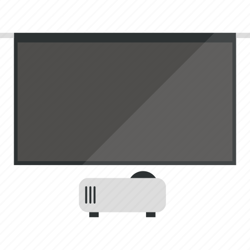 movies, projector, screen, slideshow, tv icon