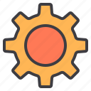 design, essential, gear, modern, web icon
