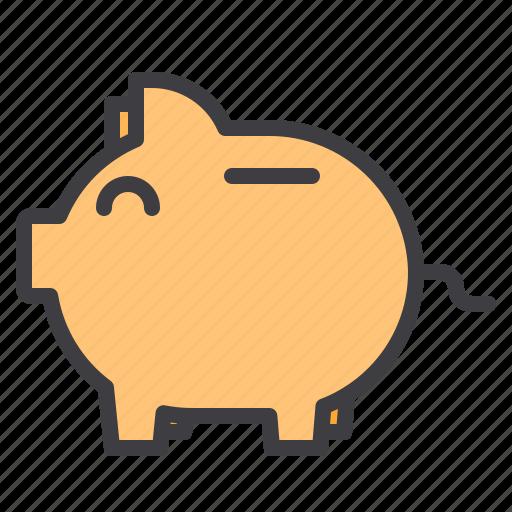 bank, design, essential, modern, piggy, web icon
