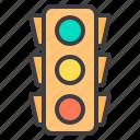 design, essential, light, modern, traffic, web icon