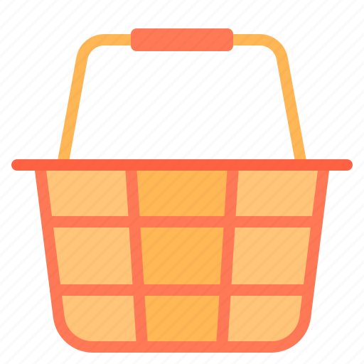 basket, design, essential, modern, web icon