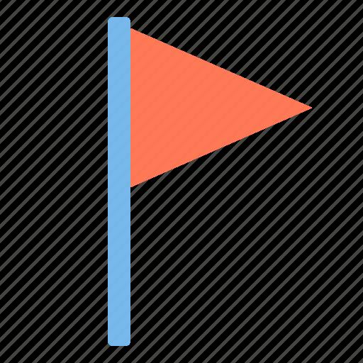 design, essential, flag, modern, triangle, web icon