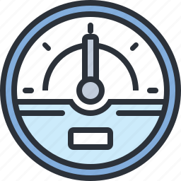 dashboard, gauge, speed, web icon