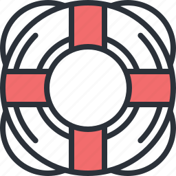 assistance, buoy, help, life, ship, support, web icon