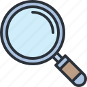detective, glass, magnifying, search, web, zoom icon