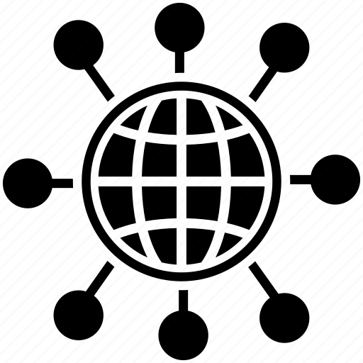global connection, global networking, network connection, network molecule structure, social media network icon
