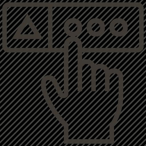hand, select, technology, web, web hosting icon