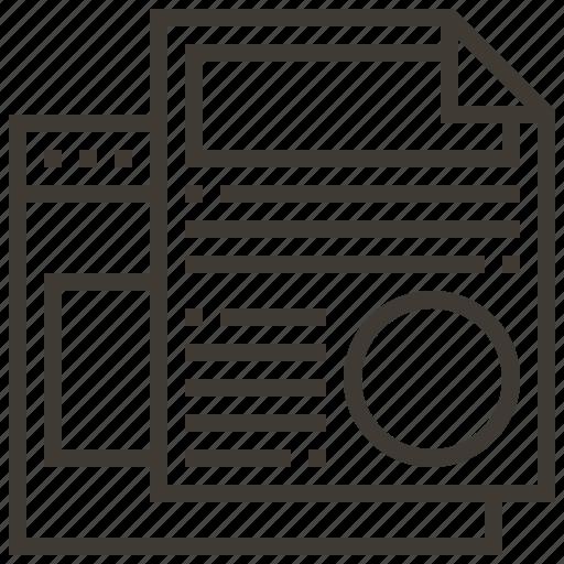 document, technology, web, web hosting icon