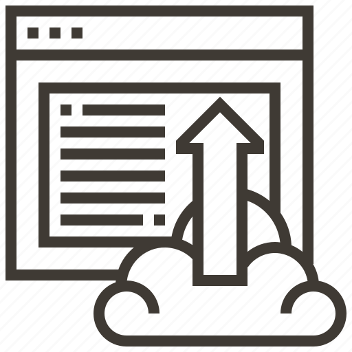 arrow, cloud, technology, upload, web, web hosting icon