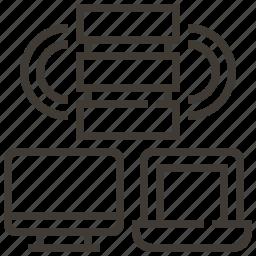 device, server, technology, web, web hosting icon
