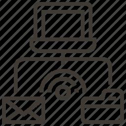 envelope, file, folder, technology, web, web hosting icon