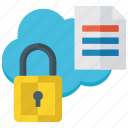 data password, data safety, locked data, personal data, protected data icon