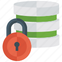 data protection, data safety, datacenter, locked data, password protected icon