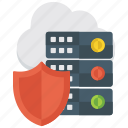 confidential data, data protection, data safety, datacenter, sensitive data icon