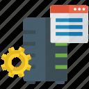 software development, web configuration, web designing, web development, web settings icon