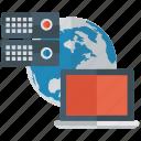 datacenter hosting, global hosting, system technology, web hosting, web infrastructure icon