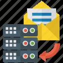 data copy, data storage, database storage, datacenter, storage backup icon