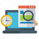 online project, project deadline, project monitoring, web speed, website monitoring icon