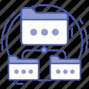 data network, data sharing, file network, folder network structure, shared folders icon