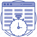 page speed test, web speed, web speed checking, website speed test, website speed testing icon