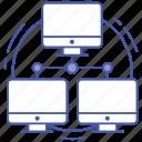 broadband networking, computer network, ethernet networking, lan network, local area network icon
