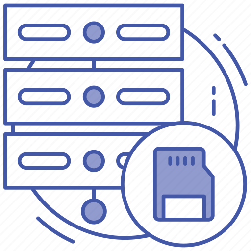 data center, data hosting, data server, data storage, database icon