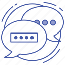 chatting, communication, conversation, messaging, talking icon
