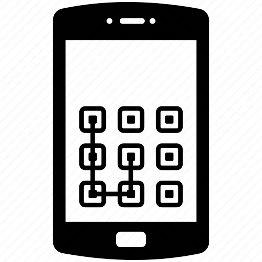 android phone protection, digital mobile security, mobile lock screen, mobile security, smartphone lock pattern icon