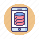 database, hosting, mobile, server icon