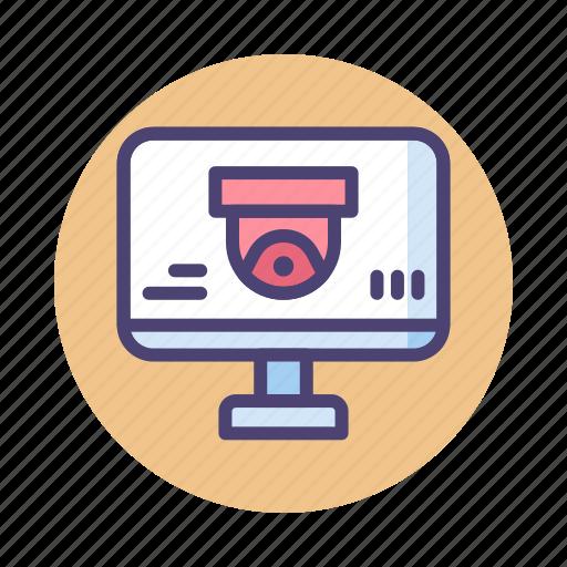 monitoring, software, spyware, surveillance icon