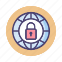 network, secured, security icon