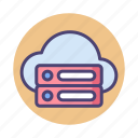 database, hosting, network, server icon