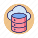 database, hosting, online, server icon