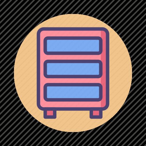 cabinet, closet, drawer, server icon