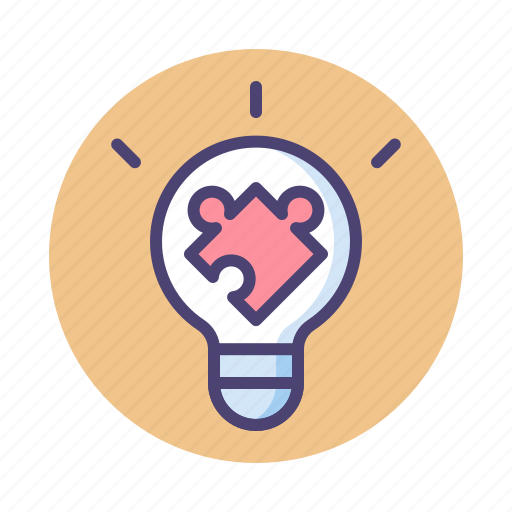 Idea, light bulb, puzzle, solution icon - Download on Iconfinder