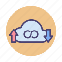 infinity, storage, unlimited, unlimited storage icon