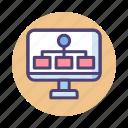 algorithm, chart, organizational chart, team, website icon