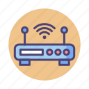 broadband, modem, wireless, wireless modem icon