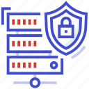 data security, network security, safe server, server security, web security icon