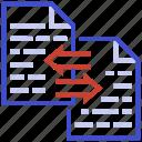 data integration, data stream, data transformation, data transmission, file transfer icon