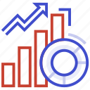 data growth, expanding data, growing information, increase server data, sql database growing icon icon