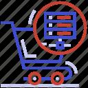 e-commerce hosting, e-commerce server, e-commerce shopping cart, ecommerce web hosting, ecommerce web server icon