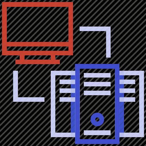 hosting server, internet server, shared hosting, web hosting, web services icon