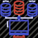 client, data, database, hosting, server icon