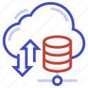 cloud backup, cloud data, cloud restore, data storage, online data recovery icon